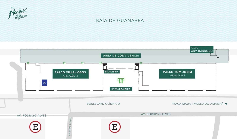 リオ・モントルー・ジャズ・フェスティバル2019の会場図