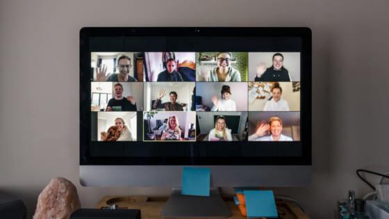 ビデオ会議の様子
