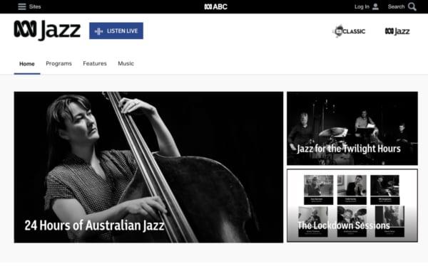 オーストラリアの人気ラジオサービス 。ABC JAZZ