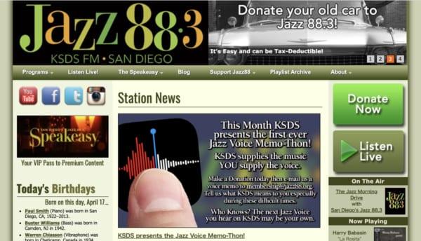 San Diego's Jazz 88.3。玄人好みの選曲が人気の米サンディエゴのローカル局