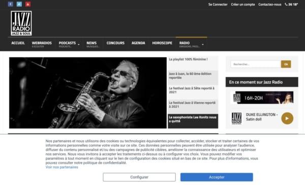 JAZZRADIO。フランスのジャズ専門ラジオ。