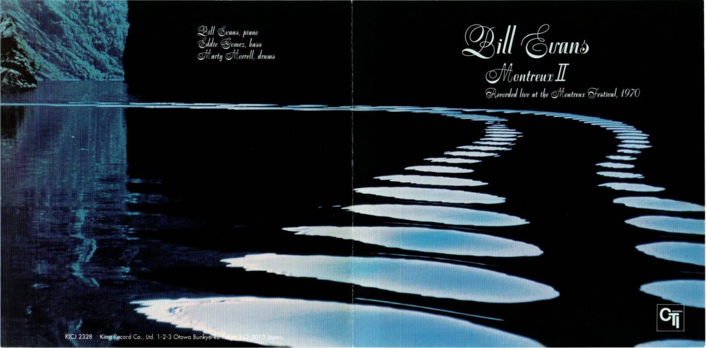ビル・エヴァンス『モントルーⅡ』のジャケット、見開き写真