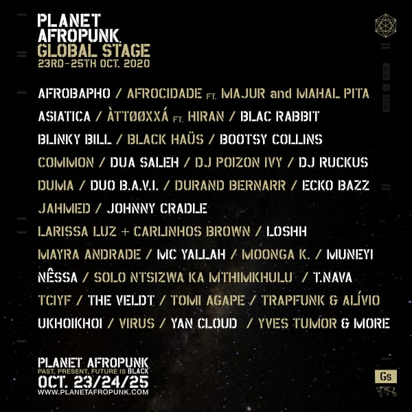 Planet Afropunkラインナップ